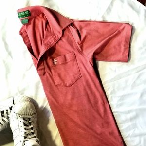 Men's Pink Grand Slam by Munsingwear Polo Size M